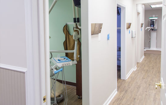 Hallway in our dental office